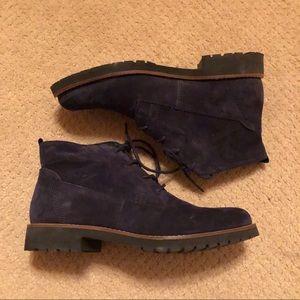Franco Sarto navy suede boots